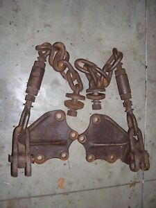 Vintage Fordson Super Major Diesel Tractor 3 Point Sway Chains Brackets
