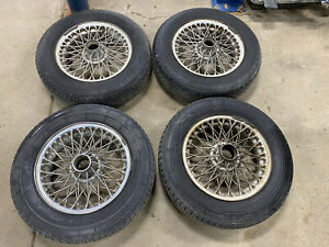 Mga Triumph Tr3 Tr4 Healey 3000 60 Spoke Painted Chrome Wire Wheels Michelin