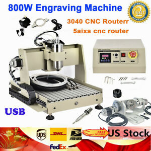 5 Axis Cnc 3040 Router Engraving 3d Diy Drilling Milling Engraver Machine 800w