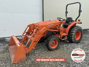 2015 Kubota L3901hst Tractor W Loader 2 Post Rops 4x4 540 Pto 230 Hours