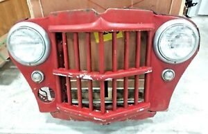 Willys Jeep 1962 Wagon Truck Front End Grille With Lights Nice