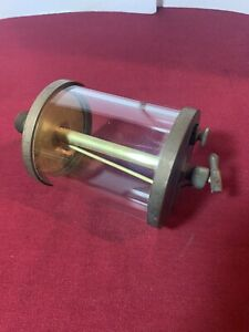 Vintage Hit And Miss Engine Brass Oiler