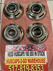 1967 79 Ford F250 F350 Poverty Truck Hubcaps Set 4 Beautiful 12 Stainless Mint