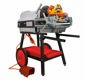 Reconditioned Ridgid 1224 Pipe Threader Steel Dragon Tools Die Heads Cart