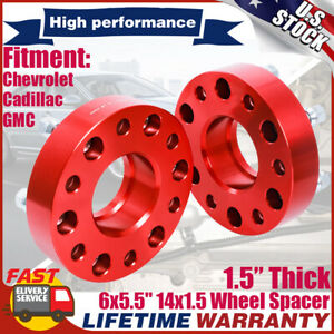 1 5inch Wheel Spacers 6x5 5 78 1mm 14x1 5 Hub Centric For Chevrolet Cadillac Gmc