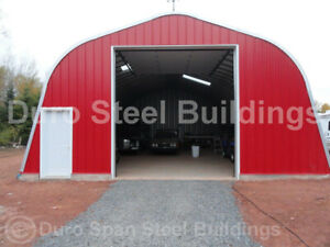 Durospan Steel 30 x22 x16 Metal Building Diy Home Kit Open Ends Factory Direct