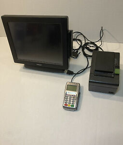 Business Starter Pack Point Of Sale System Retail Posiflex Xt3000 Chip Reader