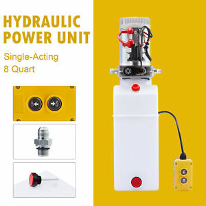 12v 8qt Single Acting Hydraulic Pump For Boat Lift Wheelchair Lift Tailgate Lift