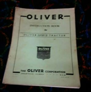 Oliver 80 Tractor Operator s Instruction Book Manual