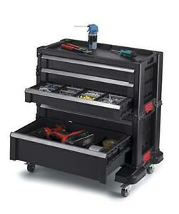With Storage Drawers Locking System And 16 Removable Bins Rolling Tool Chest