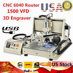 Usb 4 Axis 6040 Cnc Router Engraver Woodworking Milling Machine Diy Engraving Us