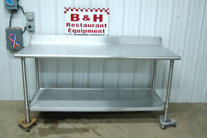 72 X 30 Eagle T3072sb bs Stainless Steel Kitchen Work Table 6