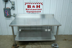 54 X 30 Stainless Steel Heavy Duty Kitchen Work Table Equipment Stand 4 6