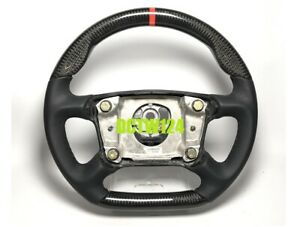 Real Carbon Flat Bottom Steering Wheel 996 993 986 Carrera Porsche Leather Color