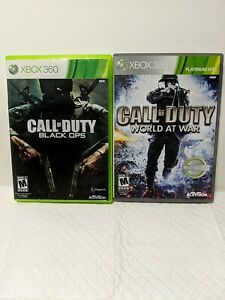 Call of Duty Black Ops and World at War Xbox 360 games $10.90