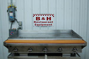Vulcan 60 Heavy Duty Vccg60 as01 Natural Gas Flat Top Griddle Grill 5