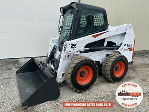2018 Bobcat S630 Skid Steer Erops 382 Hours Aux Hyd Ride Control Heat A c