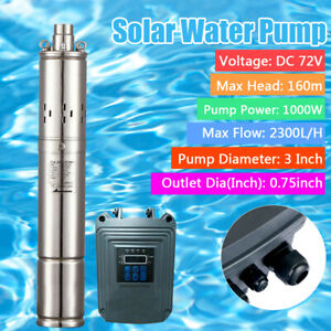 Solar Water Pump Deep Well Dc 72v 1000w Bore Hole Submersible mppt Controll Used