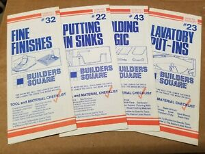Lot Of 4 Builders Square How to Booklet Pamphlet Brochure Construction Build