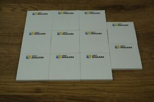 Lot Of 11 Post It Note Pads 3in X 3in White Branded First Niagara a4