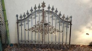 Antique Wrought Iron Gate 6 Ft X 5 Fence