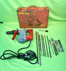 Nice Hilti Model Te 17 Hammer Drill 115v W Drill Bits And Red Metal Case