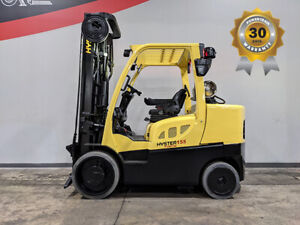 2014 Hyster S155ft 15500lb Smooth Cushion Forklift Lpg Lift Truck Hi Lo 9516