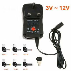 Hot New 3v 12v Ac To Dc Adjustable Multi Voltage 30w Power Supply Adapter Us