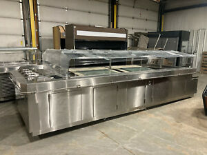 190 Stainless Remote Olive Soup Salad Bar Refrigerated Buffet Table 2019 Model