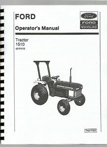 Ford 1510 Compact Utility Tractor Operators Owners Manual