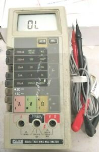 Fluke 8062a True Rms Multimeter Working With Test Leads