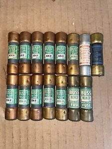 Lot Of 15 30 Amp 240 Volt Fuses One Time Class Rk5 Tested Non30 Ot30