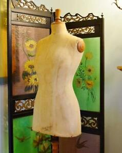Superb Antique French Dressmaker s Mannequin buste Girard Paris Early 1900 s