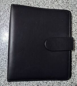 Franklin Planner Compact Binder Black Leather 7 Ring 1 Covey Organizer