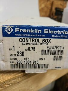 Franklin Electric 1 Hp Submersible Water Pump Control Box 230v 2801084915