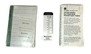 1 Pocket Day timer Extra Pages 1 Planner Box Inserts Nip Factory Sealed