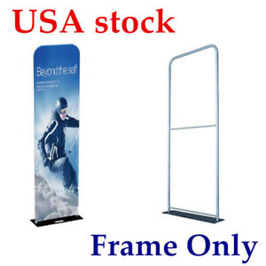 Us 2ft 25mm Aluminum Tube Exhibition Booth Tension Fabric Display frame Only