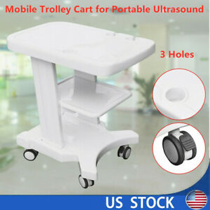 Mobile Rolling Cart For Ultrasound Scanner Machine Moveable Lab Trolley Cart Usa