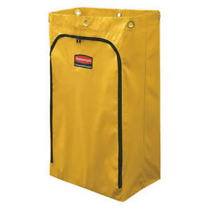 Rubbermaid 1966881 Zippered Vinyl Cleaning Cart Bag Yellow 1966719
