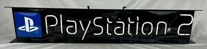 Playstation 2 Blue Lighted like Neon Sign With Play Station 2 Logo Vintage Euc