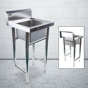 Cleaners Sink Single Sink Mop Sinks 304 Stainless Steel Laundry Trough 50x50cm