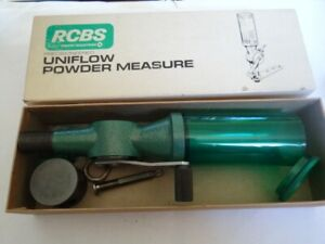 VINTAGE RCBS Uniflow Powder Measure #09000 Combo Large amp; Small Cylinders. $120.00