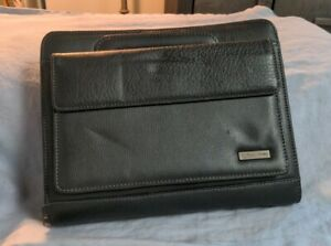 Preowned Franklin Covey 2 Handle Zip Faux Leather Binder 7 2 Rings 10 X 8 Brown