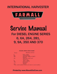 Farmall 4 Cylinder Diesel Engine Service Manual New