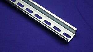 10pcs Din Rail Slotted Steel High Profile 35mm X 15mm 1 5mm Thick 1 Meter