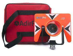 Adirpro All metal Single Tilt Prism With Case Fits All Total Stations Surveying