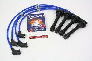 88 91 Honda Civic Ngk Spark Wires Set With Iridium Ix Plugs Billet Separators