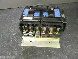 Mitsubishi 50 Amp Double Breaker 2 X 3 Pole With Shunt Nf50 sp 6p 50a