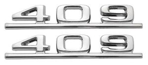 1962 62 1963 63 Chevy Impala Belair Biscayne Front Fender 409 Emblems Pair Ss