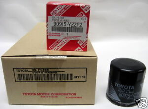 Case Qty 10 Genuine Toyota Oil Filter 90915 Yzzf2
